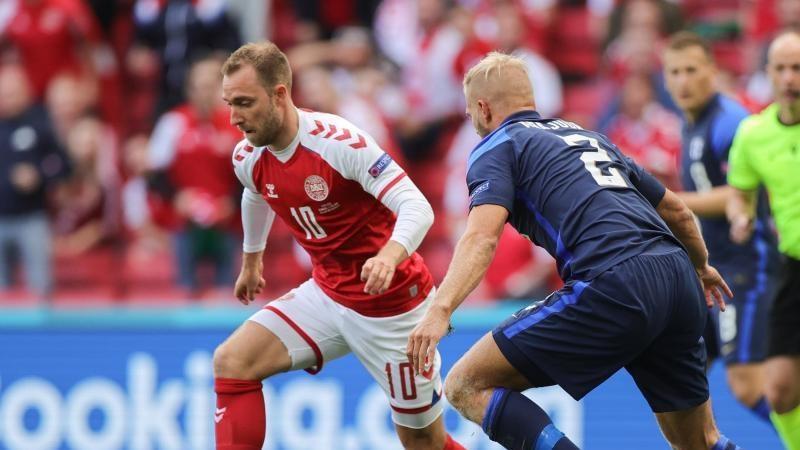 Der Däne Christian Eriksen war während des Spiels zusammengebrochen. Foto: Martin Meissner/AP Pool/dpa