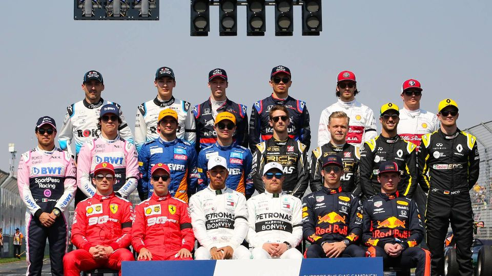 March 17 2019 All Formula One drivers together for the Drivers photograph on the starting grid a