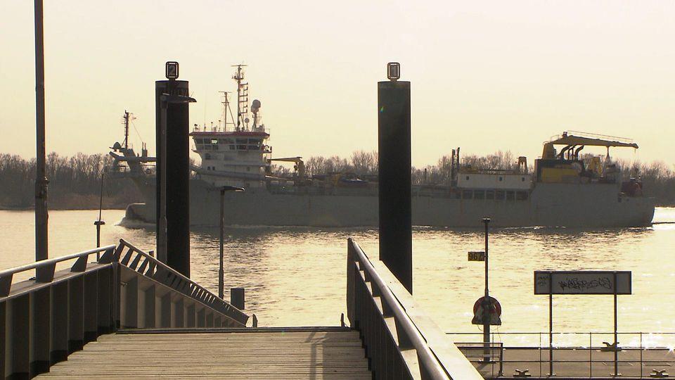 Die Elbe in Hamburg. 1
