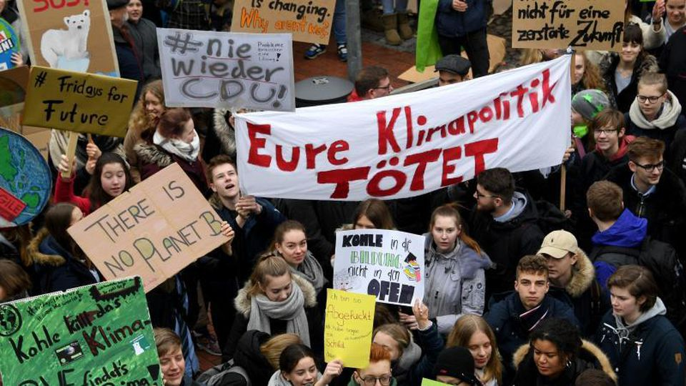 """Fridays for Future""-Protest in Elmshorn. Foto: Carsten Rehder"