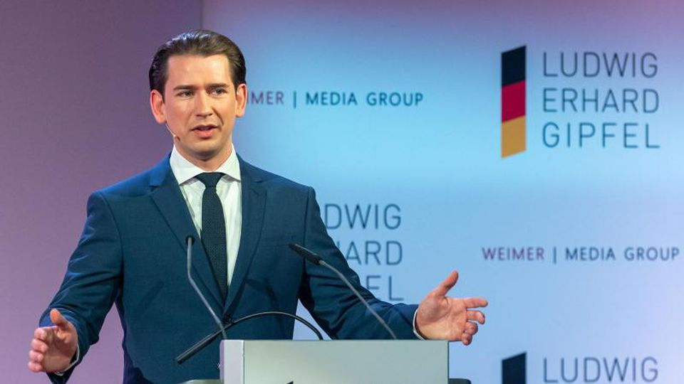 """Österreichs Bundeskanzler Sebastian Kurz in München: """"Das beste Spiegelbild der Ansteckungsgefahr ist die Sieben-Tage-Inzidenz (...)."""". Foto: Peter Kneffel/dpa"""