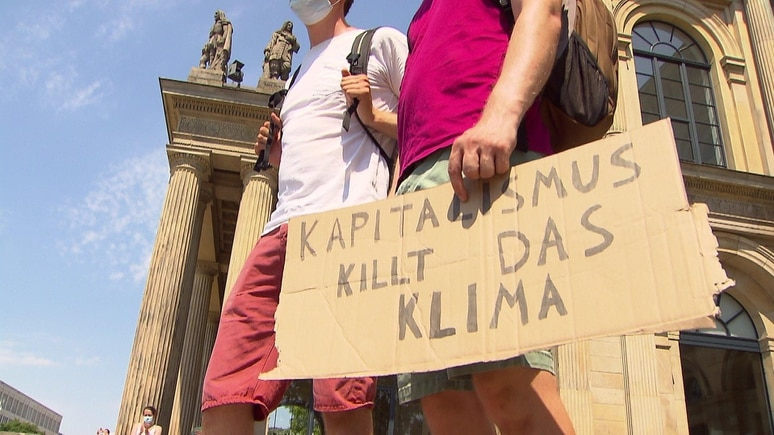 Fridays For Future-Demonstration in Hannover.