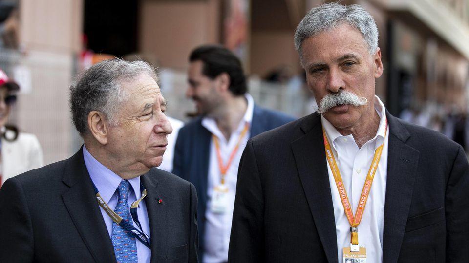 2019 Monaco GP MONTE CARLO MONACO MAY 26 Jean Todt President FIA and Chase Carey Chairman F