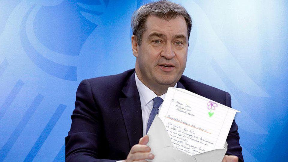 Rührender Brief an Markus Söder