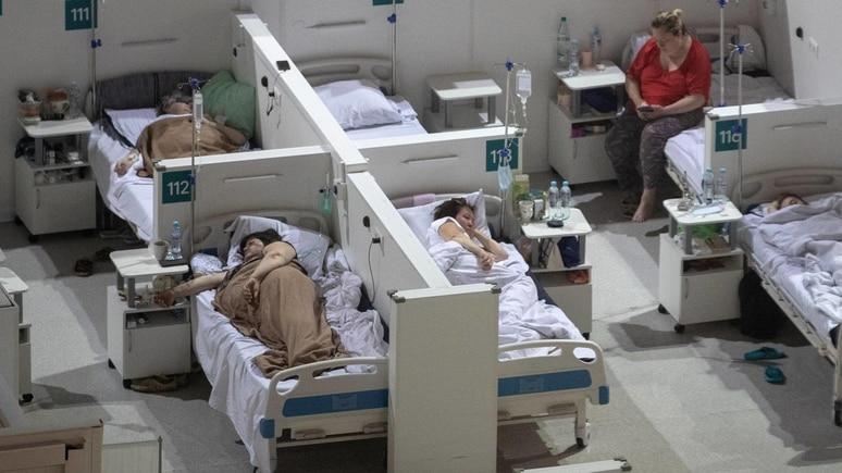 Krankenhaus in Moskau mit Corona-Patienten