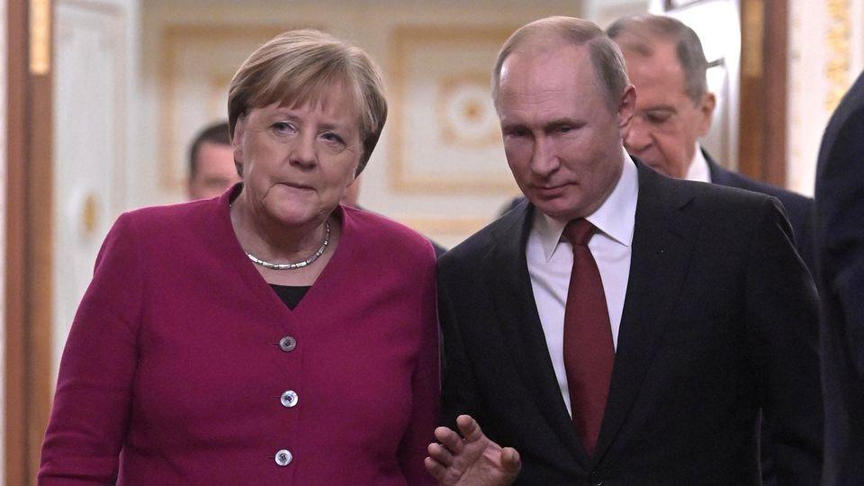 Angela Merkel besuchte Wladimir Putin in Moskau.