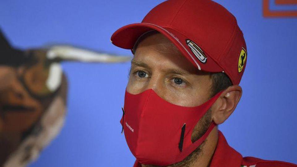 Mit Ferrari in Budapest unter Druck: Sebastian Vettel. Foto: Mark Sutton/MSN POOL/AP/dpa