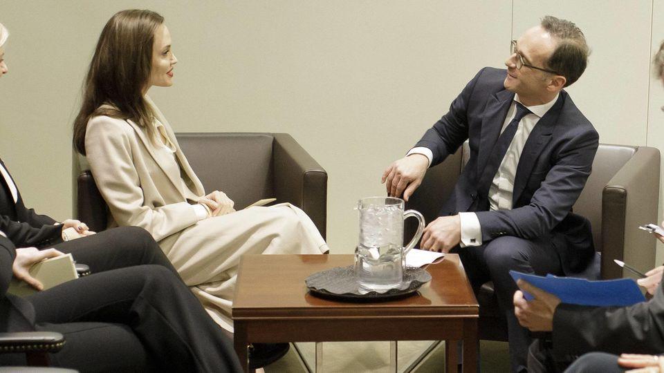 Außenminister Maas trifft bei UN-Besuch in New York Angelina Jolie.