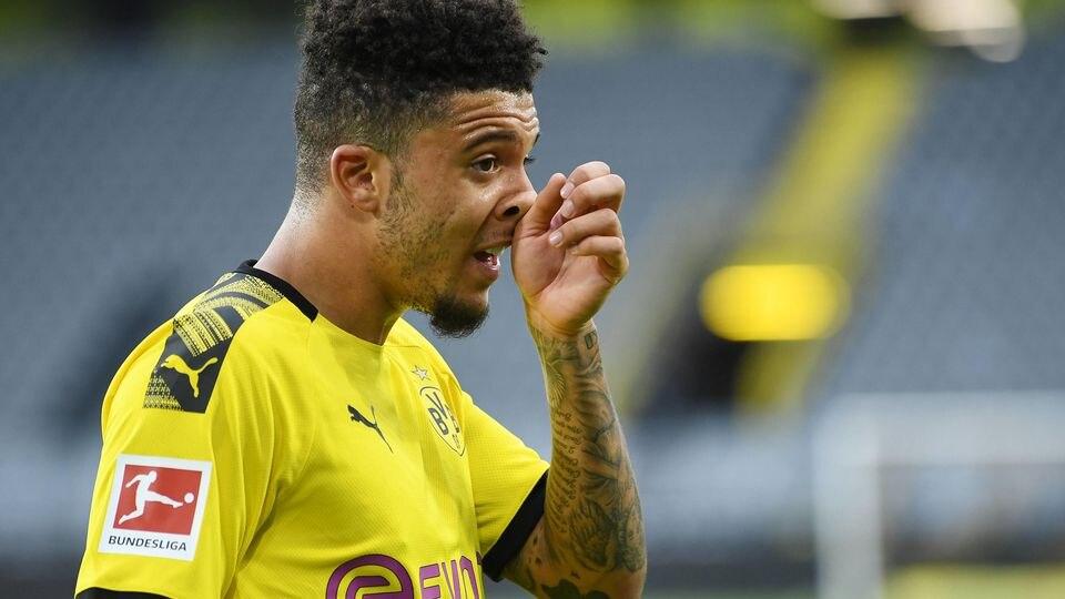 Fussball Jadon Sancho (Dortmund) Dortmund, 06.06.2020, Fussball Bundesliga, Borussia Dortmund - Hertha BSC Berlin Dortm
