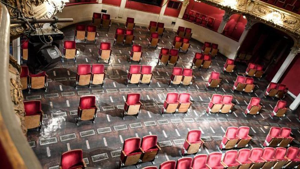 Der Zuschauerraum des Berliner Ensembles. Foto: Britta Pedersen/dpa-Zentralbild/dpa