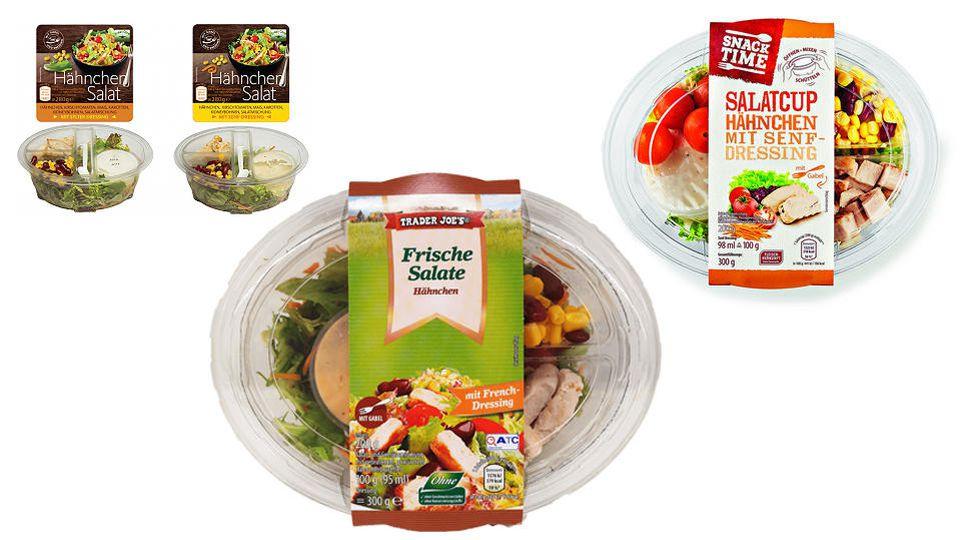 Wegen Listerien-Gefahr wurden Hähnchensalate bei Aldi und Netto zurückgerufen.