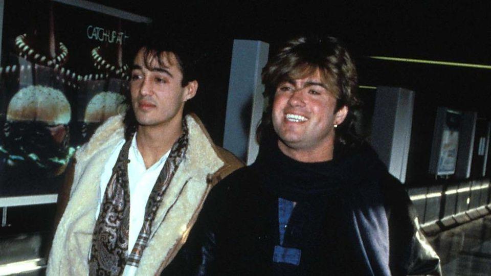 Andrew Ridgeley (li.) und George Michael bildeten das Musikduo Wham!