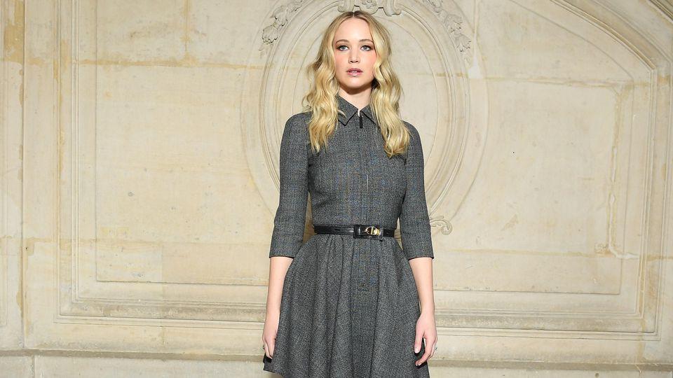 Jennifer Lawrence bei der Dior-Show in Paris.