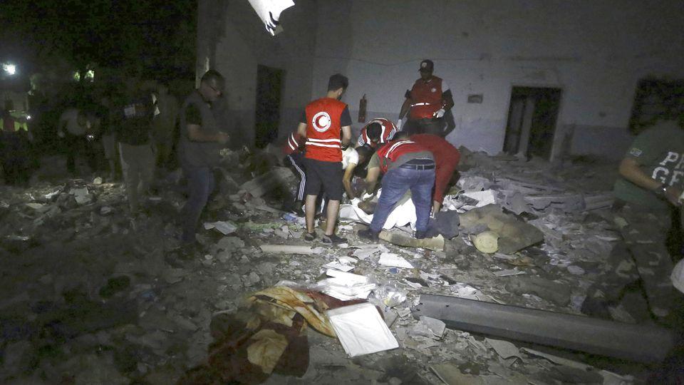 Angriff auf Migrantenzentrum in Libyen.