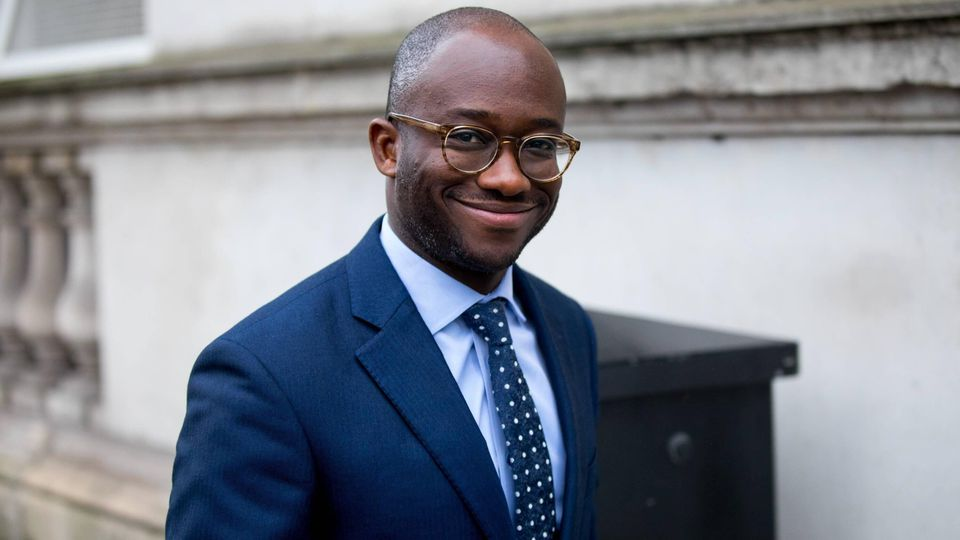 January 9, 2018 - London, London, UK - London, UK. Prisons and Probation Minister Sam Gyimah arriving in Downing Street this morning. Yesterday British Prime Minister Theresa May reshuffled her cabinet, appointing some new ministers. London UK PUBLIC