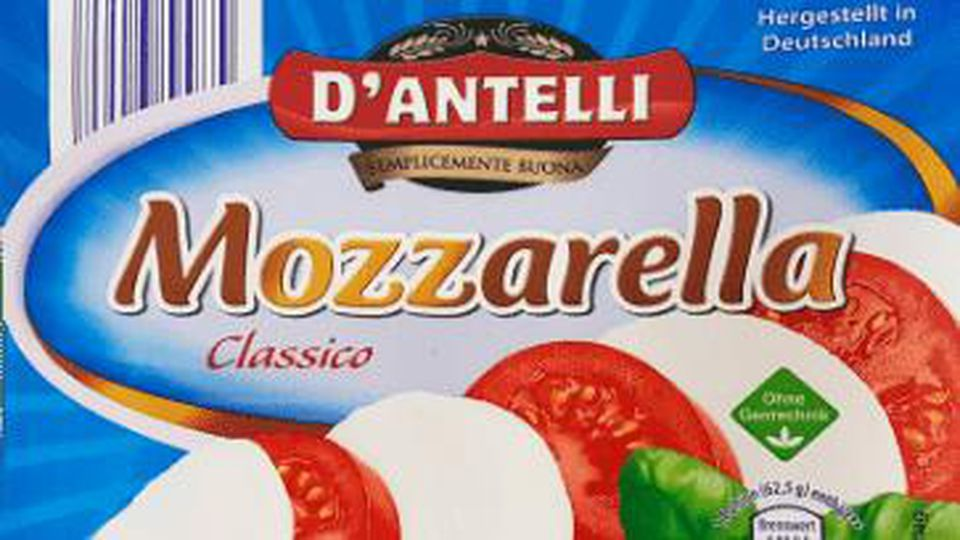 """Aldi Nord hat seinen Mozzarella der Marke """"D'Antelli"""" zurückgerufen."""