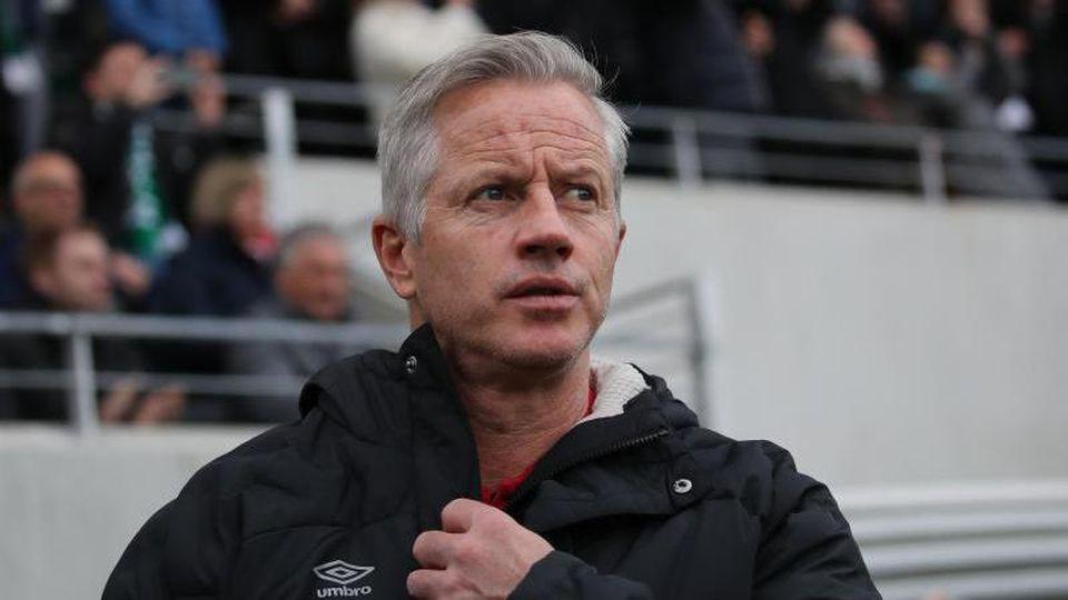 Der Nürnberger Trainer Jens Keller. Foto: Daniel Karmann/dpa