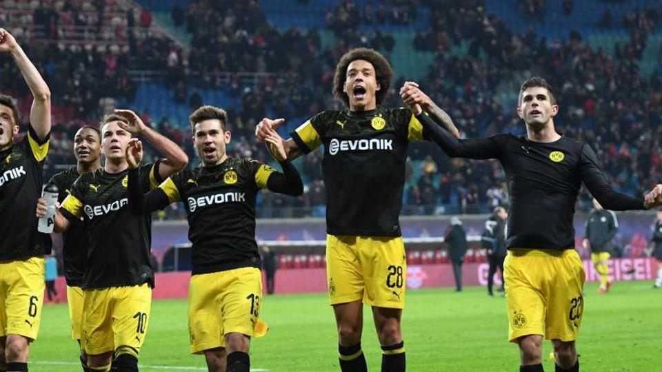 Das 1:0 in Leipzig sichert dem Herbstmeister das Sechs-Punkte-Polster auf die Bayern. Foto: Hendrik Schmidt