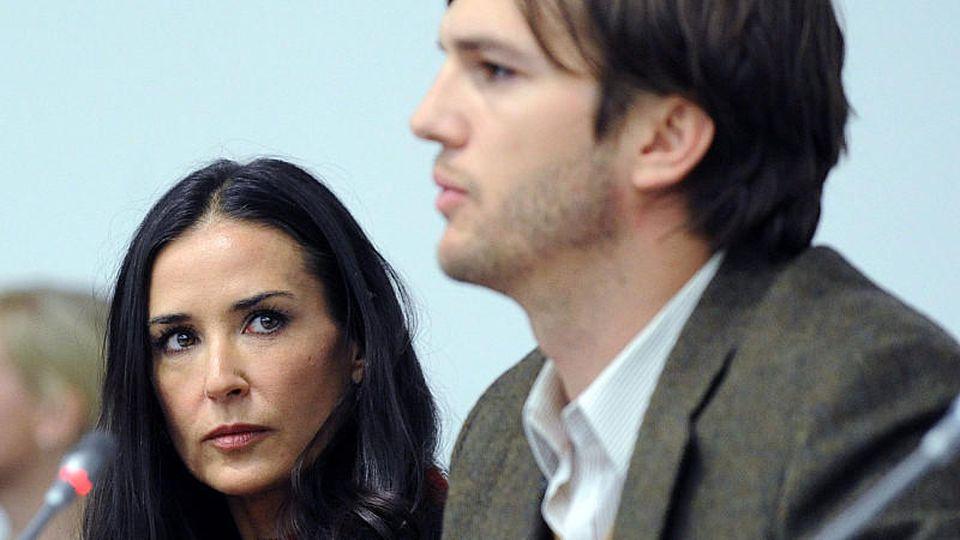 Demi Moore und Ex-Ehemann Ashton Kutcher