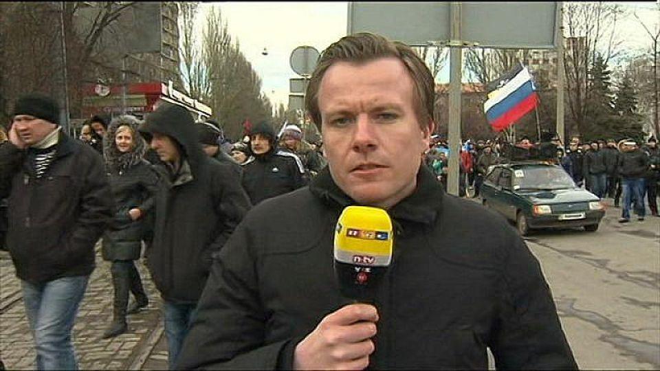 RTL-Reporter berichtet aus Donezk