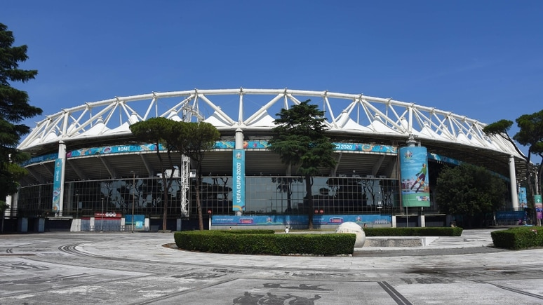 The Olympic Stadium in Rome ready for the opening race of Euro 2020 Turkey-Italy, Italy, June 10, 2021. Photographer01