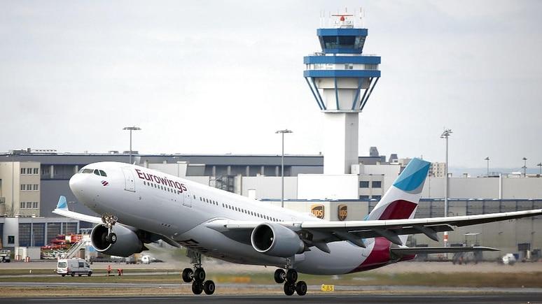 Eurowings-Airbus am Flughafen Köln/Bonn.