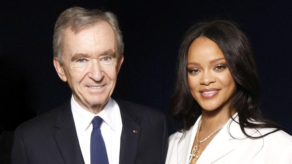 Rihanna mit LVMH-Geschäftsführer Bernard Arnault