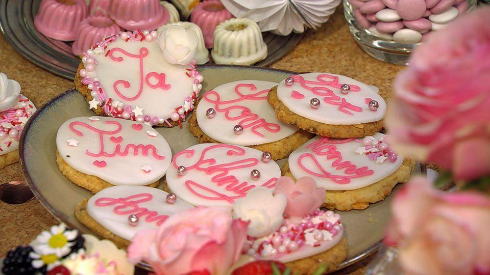 Sweet Table – das zuckersüße Buffet für den besonderen Anlass: Weiße Schoko-Kokos-Cookies