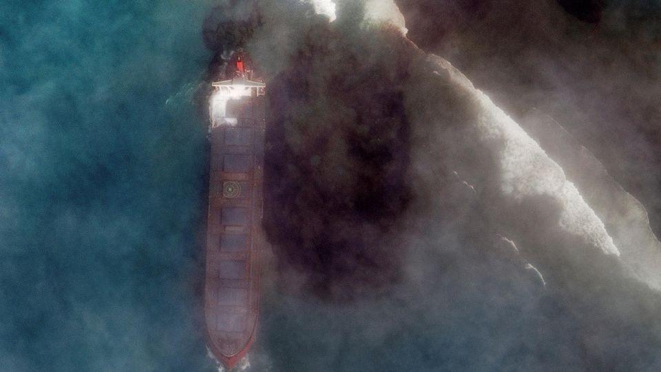 Ein Satellitenbild zeigt das Ausmaß der Katastrophe.