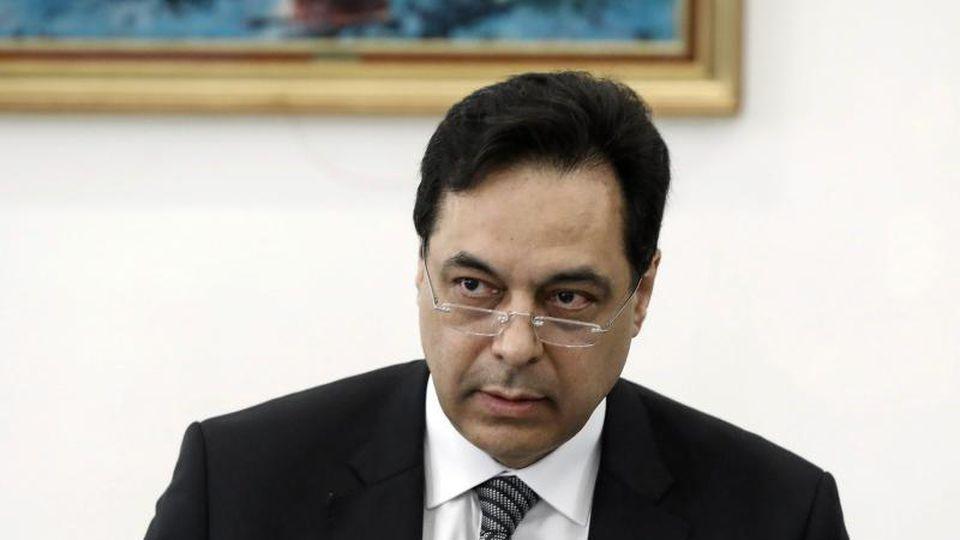 Der libanesische Premier Hassan Diab will seinen Rücktritt ankündigen. Foto: -/Dalati & Nohra/dpa