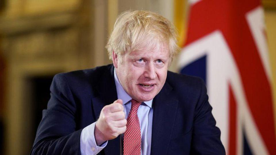 """""""Von heute Abend an muss ich dem britischen Volk eine einfache Anordnung geben: Sie müssen zuhause bleiben"""", sagt Johnson in seiner Fernsehansprache. Foto: Andrew Parsons/No 10 Downing Street/Handout via Xinhua/dpa"""
