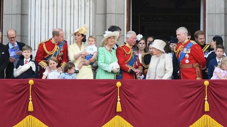 Die Mitglieder der Königsfamilie im Juni 2019 auf dem Balkon des Buckingham-Palasts