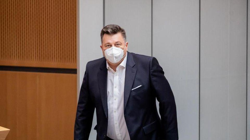 Innensenator Andreas Geisel im Berliner Abgeordnetenhaus. Foto: Christoph Soeder/dpa