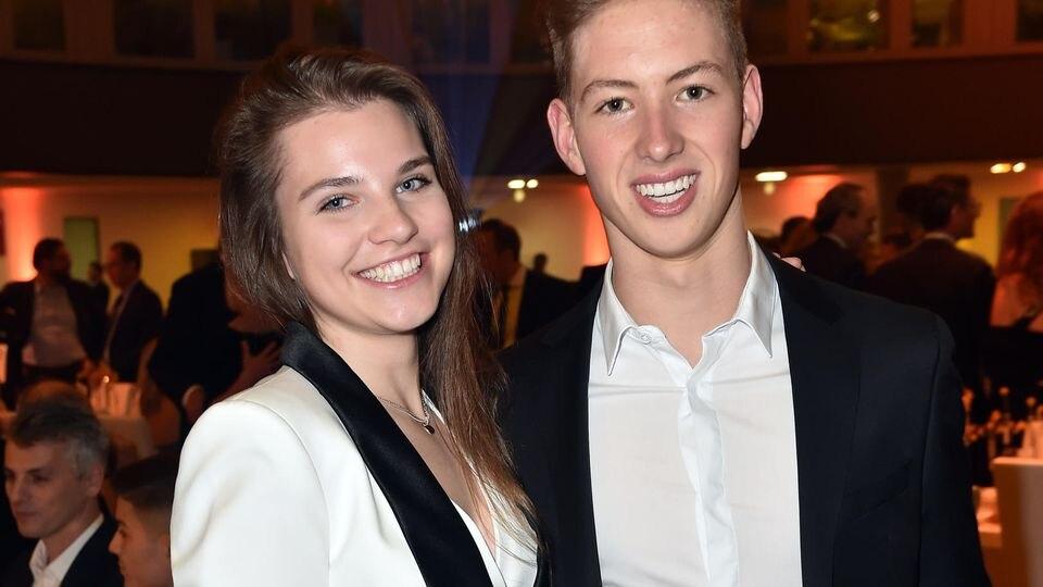 David Schumacher mit seiner Freundin Vivien bei der ADAC Sportgala