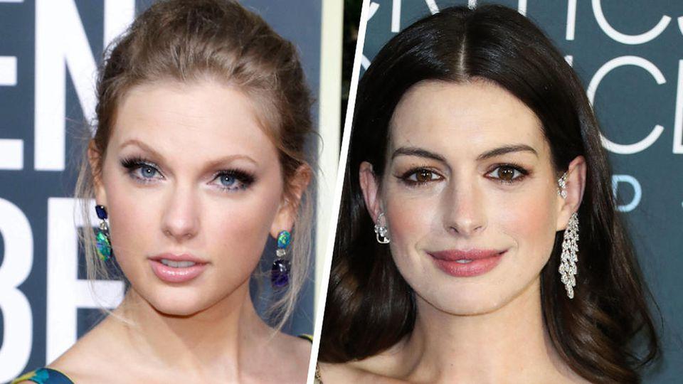 Taylor Swift (l.) und Anne Hathaway haben den Mismatch-Trend schon für sich entdeckt.