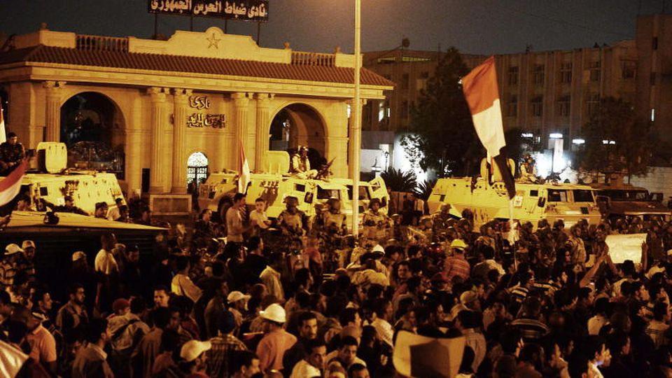 Blutige Proteste in Ägypten.
