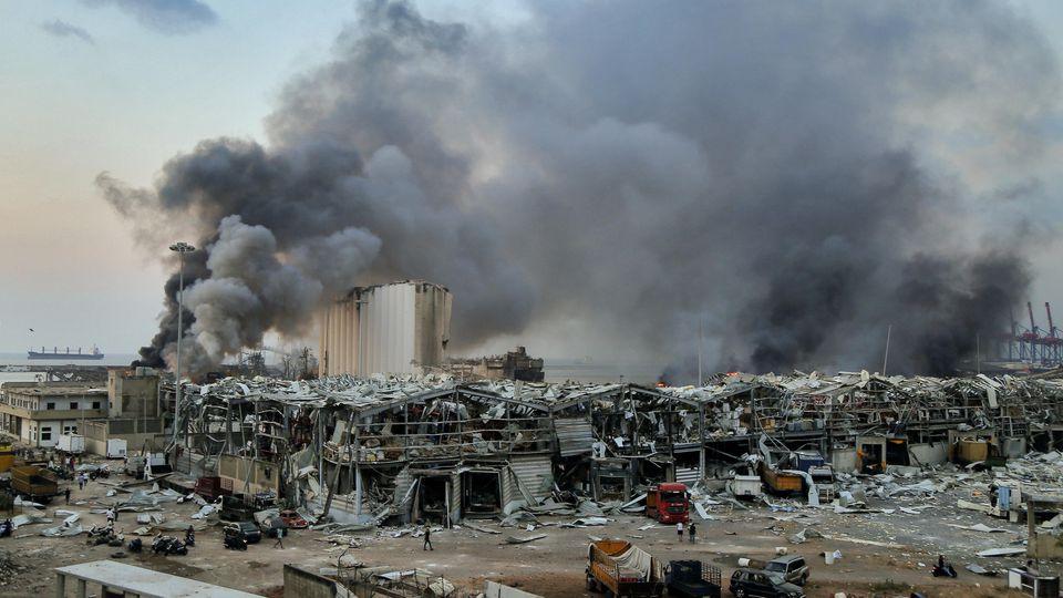Im August 2020 kommt es im Hafen von Beirut zu einer schweren Explosion.
