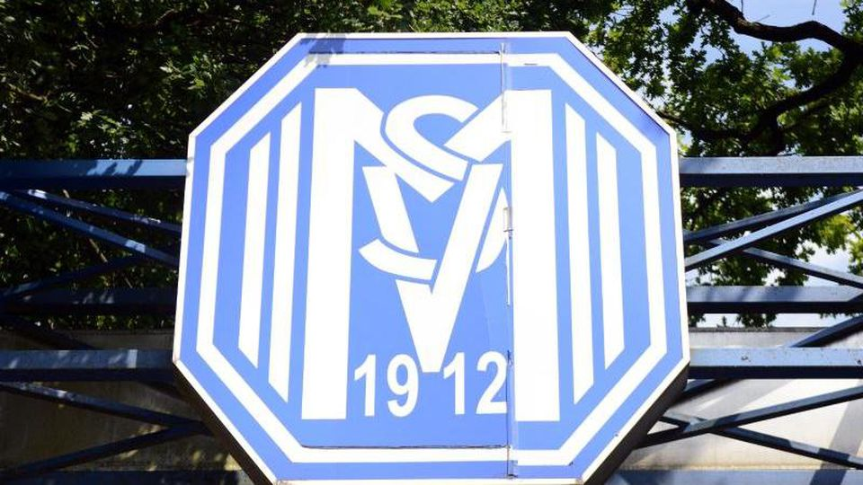 Das Logo des SV Meppen. Foto: picture alliance / Caroline Seidel/dpa/Archivbild