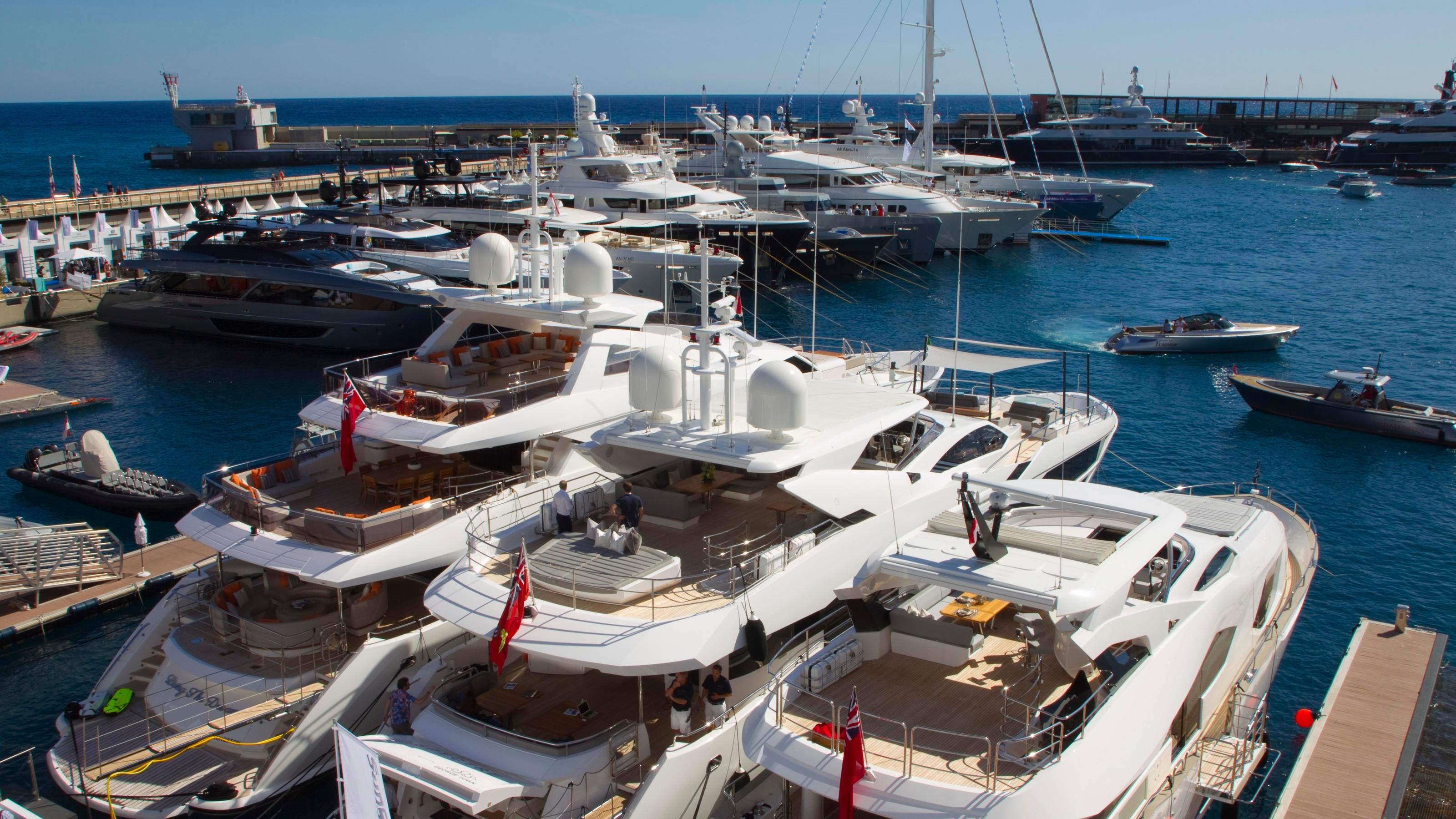 Yachten in Monte Carlo.