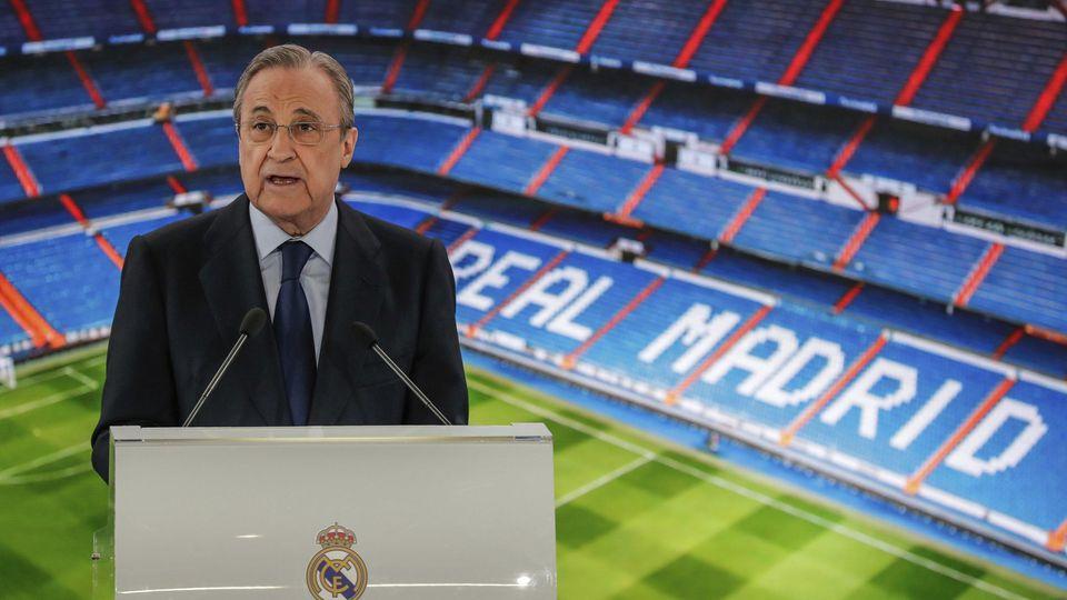 Real-Präsident Florentino Pérez sagt: Das Vorhaben Super League ist noch nicht gescheitert.