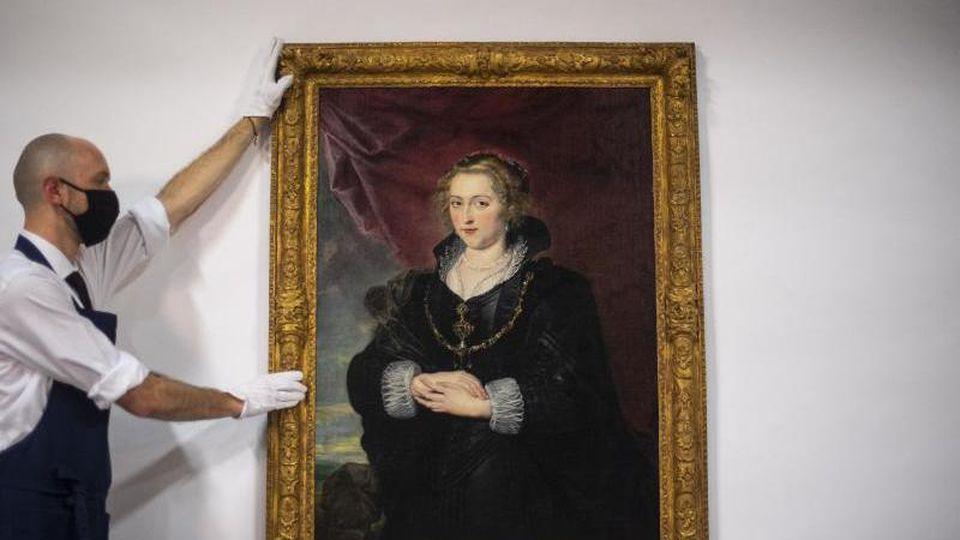 Ein Frauenbildnis von Peter Paul Rubens soll versteigert werden. Foto: Victoria Jones/PA Wire/dpa