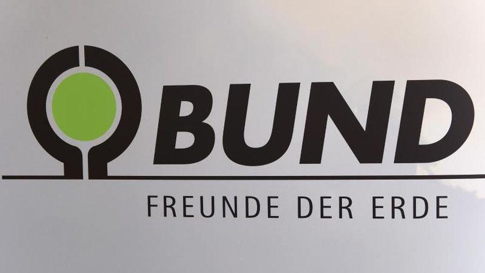 Das Logo des BUND. Foto: Jens Kalaene/dpa-Zentralbild/dpa/Archivbild