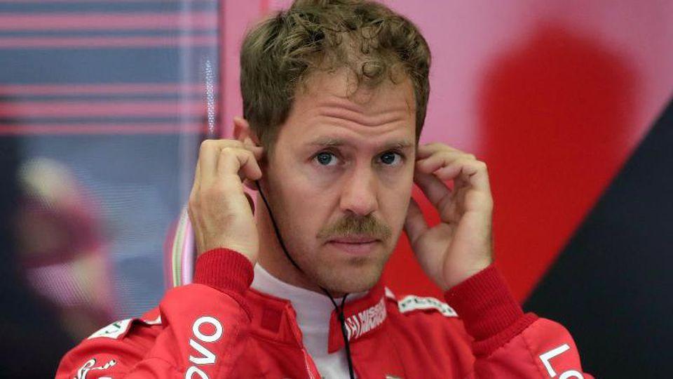 Ferrari-Pilot Sebastian Vettel hofft auf ein schnelles Auto in Baku. Foto: Hassan Ammar/AP