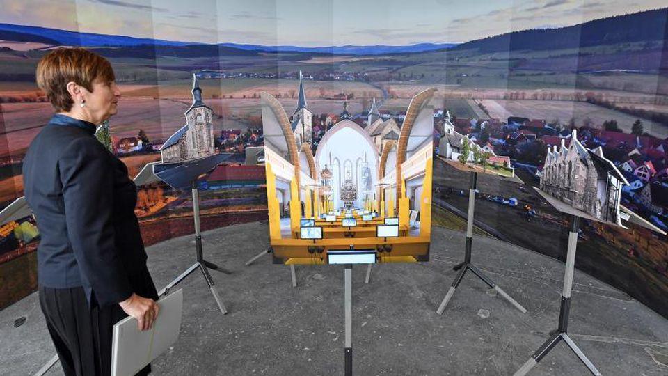 In einer Ausstellung präsentiert die IBAThüringen ihre Bauideen für ländliche Regionen in Thüringen.Foto:Martin Schutt