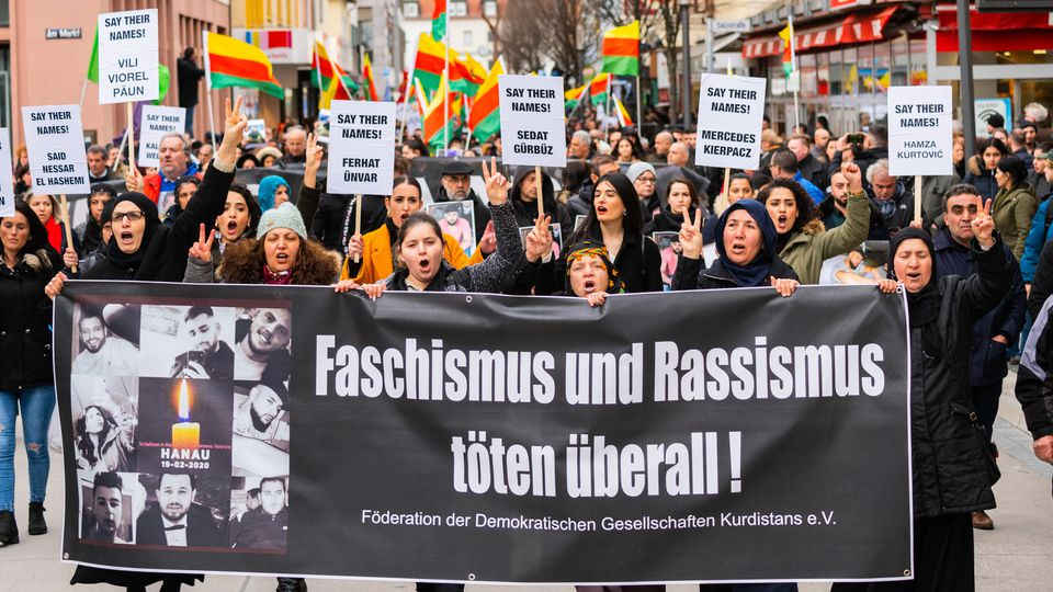 Nach Schüssen in Hanau - Demonstration