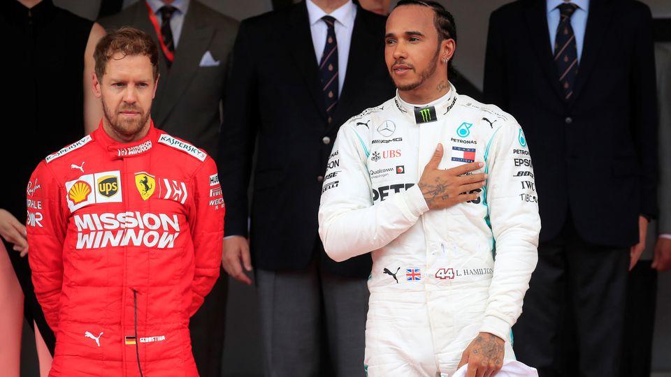 Lewis Hamilton gewann den Monaco-GP 2019 vor Sebastian Vettel
