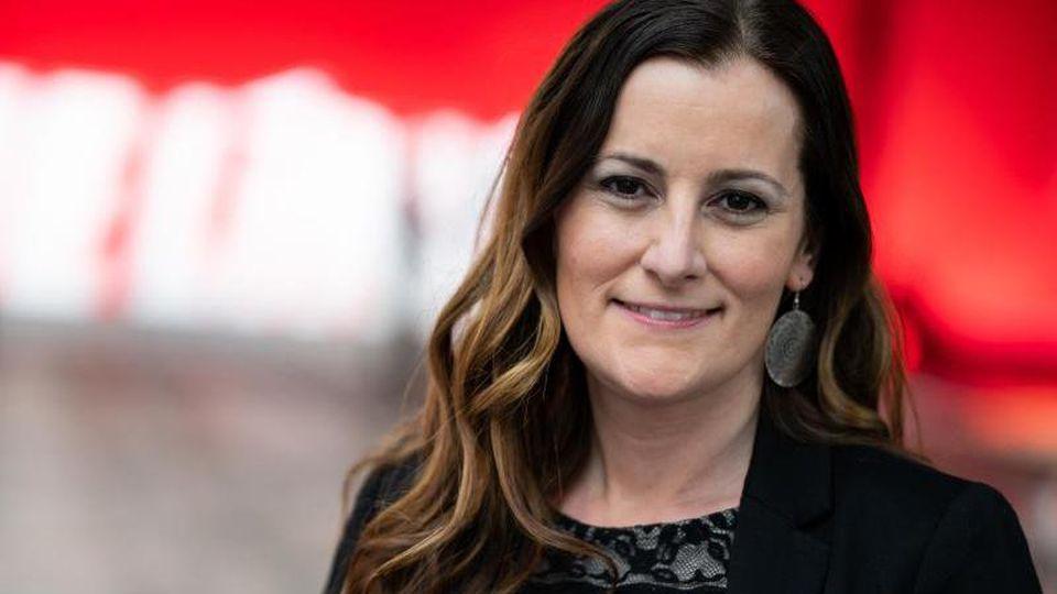 Janine Wissler, Fraktionsvorsitzende der Linken in Hessen und Kandidatin für den Parteivorsitz. Foto: Bernd von Jutrczenka/dpa