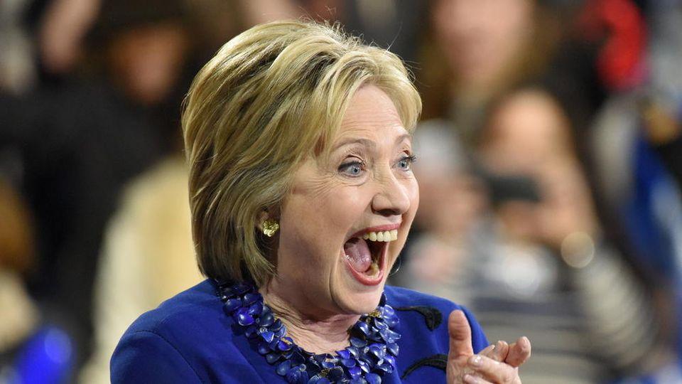 Hillary Clinton traf am Dienstag die jungen Royals