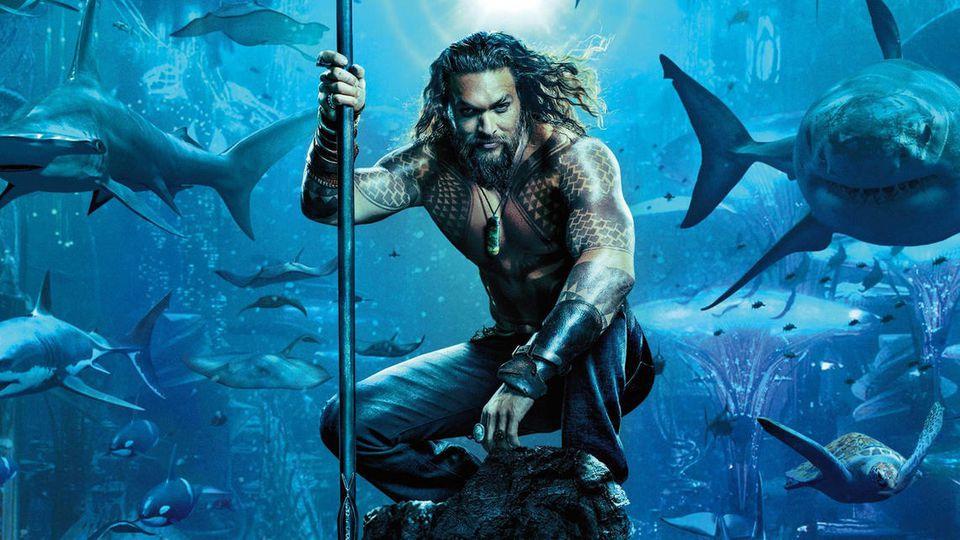 """Jason Momoas Muskelpakete machen in """"Aquaman"""" auch unter Wasser eine gute Figur"""