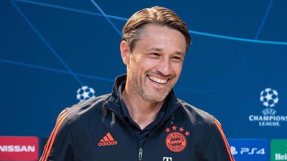Setzt als Nahziel das Überstehen der Gruppenphase: Bayern-Trainer Niko Kovac kommt zur Pressekonferenz. Foto: Sven Hoppe